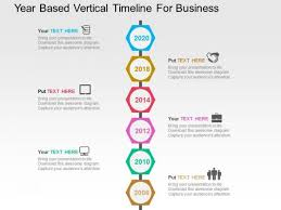 Vertical Timeline Powerpoint Year Based Vertical Timeline For Business Powerpoint