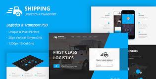 <b>Shipping</b> – Logistics & Transport <b>PSD</b> Template by themepassion ...