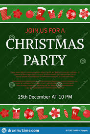 Sample Of Christmas Party Invitation Christmas Party Celebration Invitation Text Sample Stock