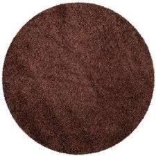 milan brown 5 ft x 5 ft round area rug