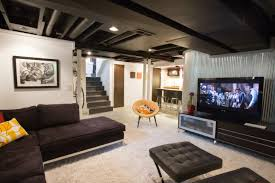 basement idea. Black Ceiling Basement Idea