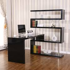 foldable office desk. Hollow Core Hobby Corner Desk Computer Table Rotating 4 Tier Shelf Combo Black Foldable Office