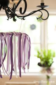 diy ribbon chandelier simplified bee