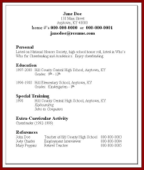 High School Student Summer Jobs Resume For Summer Job Foodcity Me