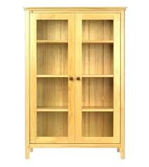 wooden bookcase with doors comic oak bookcase with sliding glass doors