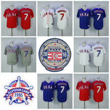 1995 Home Mens Game And Ivan Rangers 7 Rodriguez Jersey Worn Texas Signed