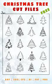 christmas tree vector free cut files dxf svg eps ai christmas tree cut files christmas tree svg christmas svg christmas tree cut file svg tree christmas