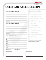 Car Sale Receipt Fill Online Printable Fillable Blank
