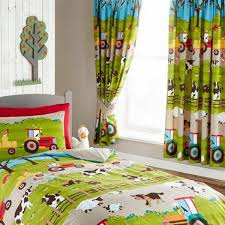 farmyard curtains for children s farm themed bedroom