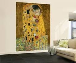 gustav klimt the kiss wall mural on mural wall artist with wall murals posters for sale at allposters