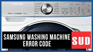 samsung washer error code sud