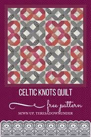 Free pattern: celtic knots quilt | Sewn Up & Celtic knot quilt free tutorial Adamdwight.com