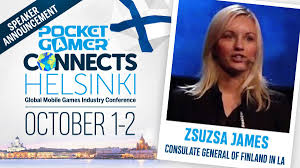 """PocketGamer.biz on Twitter: """"THIS WEEK: What are some of the best funding  strategies? Consulate General of Finland in LA's Zsuzsa James moderates &  discusses on a panel at Pocket Gamer Connects Helsinki,"""