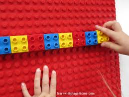 Lego Patterns Beauteous Learn With Play At Home Learning Patterns With Lego