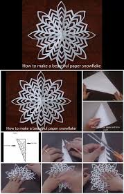 diy single sheet paper snowflake tutorial