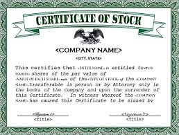 Template For Stock Certificate Stock Certificate Stock Certificate Template Free In Word