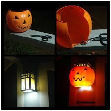 Pumpkin Yard Light Cover Diy Jack O Lantern Porch Light Easy And Cheap Halloween