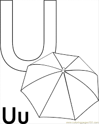 Small Picture U Umbrella Coloring Page Free Alphabets Coloring Pages
