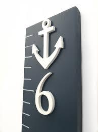 Ruler Anchor Chart Nautical Anchor Growth Chart Ruler 3d