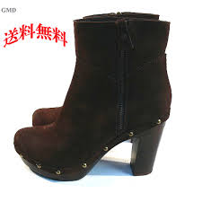 bootie real leather boots booties lock dark brown with gmd import leather real