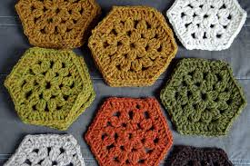 Hexagon Crochet Pattern New Crochet Hexagon Blanket Getting Started Loop Knits