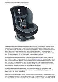 convertable car seat to a booster seat