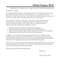 Sample Medical Resume Cover Letter Leading Professional Doctor Cover Letter Examples Resources