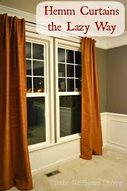 how to hem curtains the easy way whats ur home story diy custom ready made no sew curtains frysauceandgrits
