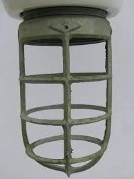 cage light fixtures old enamel fixture huge vintage industrial lighting lamp ceiling u0