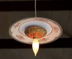 lighting a bowl. Vintage Dinnerware Pendant Lights Lighting A Bowl T