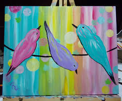 beginners acrylic paint along tutorial part 1 rainy day birds