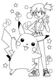 Small Picture Fun Coloring Page Of Ash And Pikachu Pokemon Ash Pokemon Boys