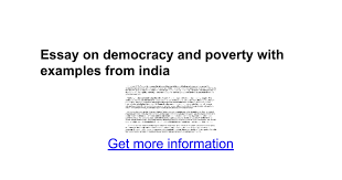 essay on democracy and poverty examples from google docs