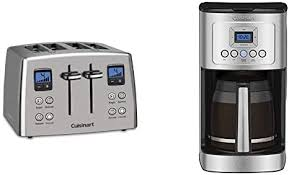 Whether you're a home roaster or a coffee house chain, we offer you artisan coffee roasters. Amazon Com Cuisinart Cpt 435 Countdown 4 Slice Stainless Steel Toaster Dcc 3200p1 Perfectemp Coffee Maker 14 Cup Progammable With Glass Carafe Stainless Steel Kitchen Dining