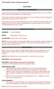 Resume Format For Career Change simple resume template 100 free samples examples resumes for career 40
