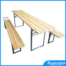 china garden wooden beer table with