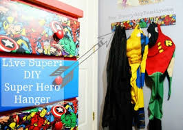 Superhero Coat Rack Super Awesome Super Hero Room Decor DIY EverydayFamily 13