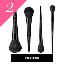 furless vegan makeup brushes