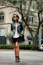 05 how to wear biker jacket street style leather zara it girl genesis serapio mexican fashion blog brunette braid mexico city