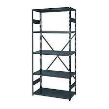 edsal 5 tier steel enamel finish rust resistant freestanding shelving rack unit