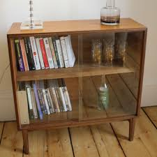 vintage bookcase with glass sliding