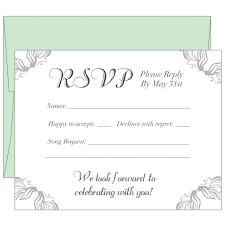 How To Reply To Wedding Rsvp Card Response Rsvp Cards