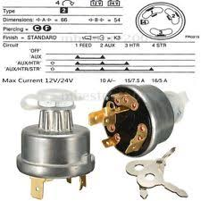 key heavy equipment parts accessories universal tractor ignition switch starter 2 key for massey ferguson john deere