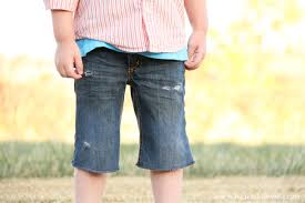 Make Pants Turn Trousers Into Shorts How To Cut Hem Jeans Pants