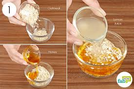 diy face mask for oily combine oats honey and lemon juice