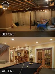 Unfinished Basement Ideas For Making The Space Look And Feel Good - Ununfinished basement before and after
