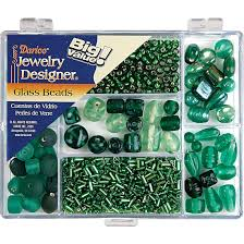 Darice Jewelry Designer Beads Details About Darice Jewelry Designer Big Value Green Glass Beads Green