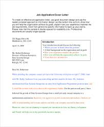 sample cover letter for resume 9 examples in pdf word should a cover letter be double spaced