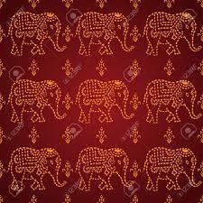 40+] Elephant Pattern Wallpaper on ...
