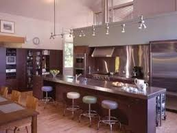 kitchen rail lighting. contemporary kitchen with long kichen island and picture rail lighting for bright ideas